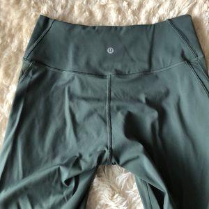 Pants - Lululemon olive green scalloped mesh tight